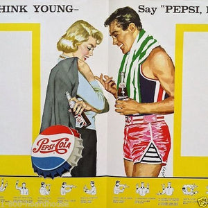 PEPSI-COLA Basketball School Athletic Menu Program 1963