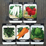 VEGETABLE SEED PACKS Set B Garden Collection 1920's