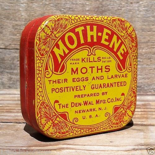 MOTH-ENE INSECT KILLER Insecticide Tin 1910s
