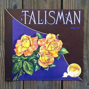 TALISMAN SUNKIST Orange Crate Box Label