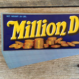 MILLION DOLLAR GRAPE Fruit Crate Label 1940s
