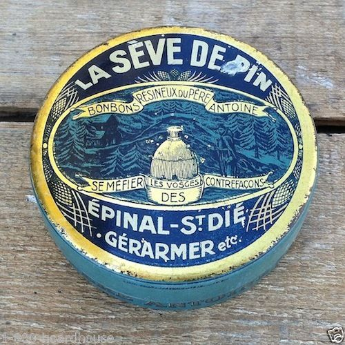 LA SEVE DE PIN FRENCH Candy Tin 1910s