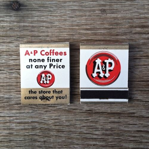 A&P GROCERY STORE Matchbook Matches 1959