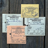 FRISCO RAILROAD TICKET Agent Tickets 1940s