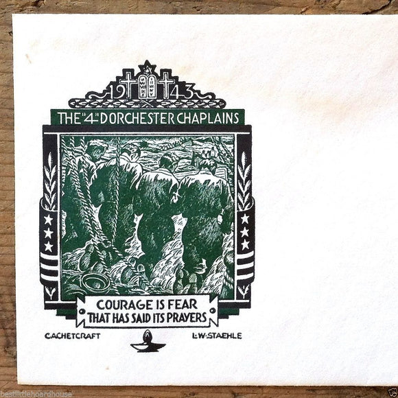 Commemorative Envelope 4 DORCHESTER CHAPLAINS 1943