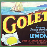 GOLETA LEMON CITRUS Crate Box Label 1930s