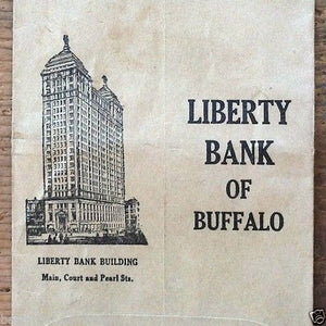 LIBERTY BANK OF BUFFALO Deposit Envelope 1910s