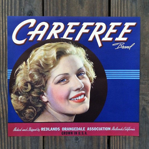 CAREFREE Citrus Crate Box Label