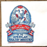 Postal Commemorative Envelope AMERICAN POULTRY INDUSTRY 1948