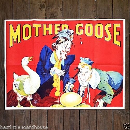 MOTHER GOOSE Vaudeville Theater Show Poster 1930s