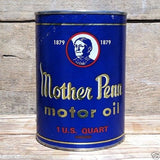 MOTHER PENN Quart Oil Can Coin Bank 1960s