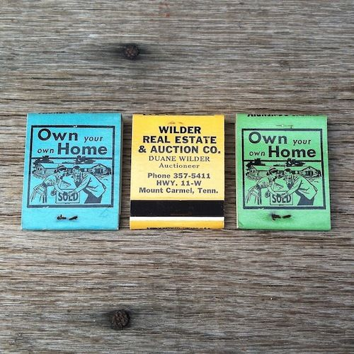 OWN YOUR OWN HOME Matchbook Matches 1960s