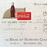 COCA COLA 1940s Bottling Company COKE Checks