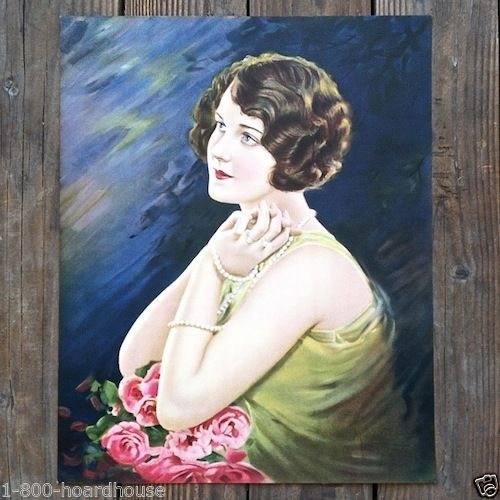 YEARNING Pinup Art Lithograph Print 1920s