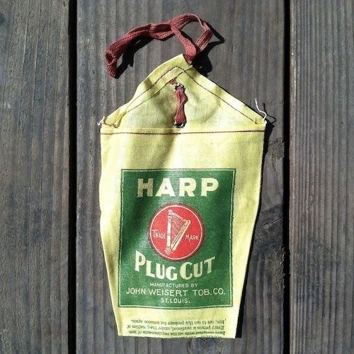 HARP PLUG CUT Tobacco Bag 1920s