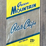 GREEN MOUNTAIN POTATO CHIP Bag 1930s
