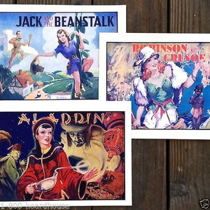 VAUDEVILLE THEATER Flyer Show Prints Set 1930s