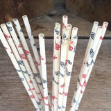 PEPSI COLA Paper Drinking Straws 1950s