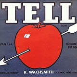 TELL APPLE Fruit Crate Box Label