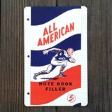 ALL AMERICAN School Note Book Filler Paper 1930s