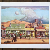 MINING TOWN Gold Strike Ghose Town Lithograph Art 1960's