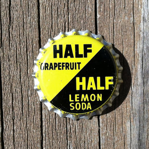 HALF GRAPEFRUIT LEMON SODA Bottle Cap 1960s