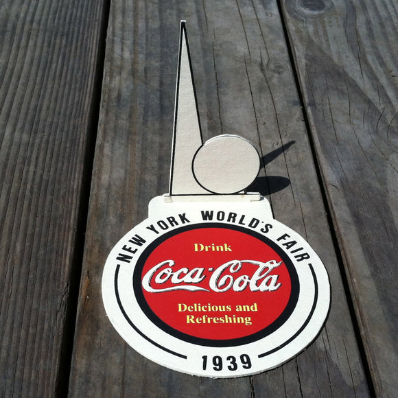 COCA-COLA NEW YORK WORLD'S FAIR Coke Drink Coaster 1939