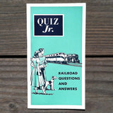 QUIZ JR Railroad Questions Answers Booklet 1955