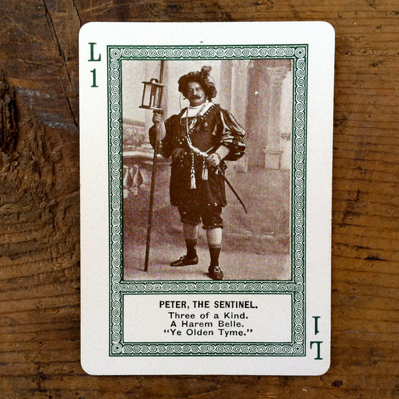STRANGE ACTOR PEOPLE Playing Cards 1910s
