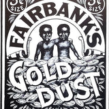 FAIRBANKS GOLD DUST Cardboard Sign 1980s
