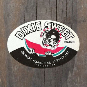 4 DIXIE SWEET WATERMELON Decals 1940s