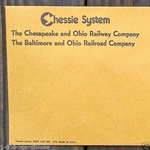 CHESSIE Railroad Railway System Envelopes 1973