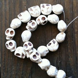 DAY OF THE DEAD Sugar Skull Halloween Cream Beads