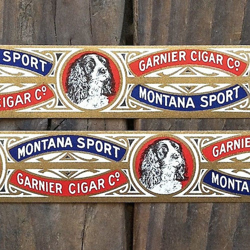 Original Vintage MONTANA SPORT Cigar Band Labels 1901