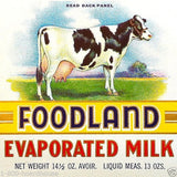 HOLSTEIN COW EVAPORATED MILK Can Labels 1920s