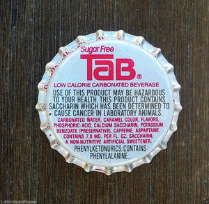 TAB SUGAR FREE SODA Bottle Cap 1970s