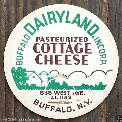DAIRYLAND COTTAGE CHEESE Pog Lids 1930s