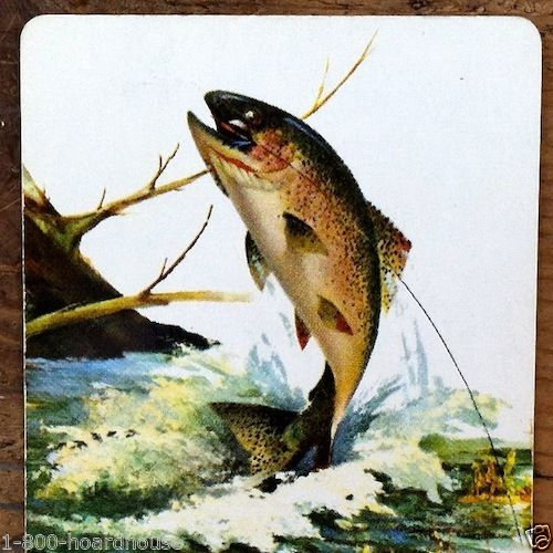 RAINBOW TROUT Screw Products Playing Card 1950s