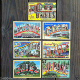CALIFORNIA BIG LETTER Linen Postcards 1930s