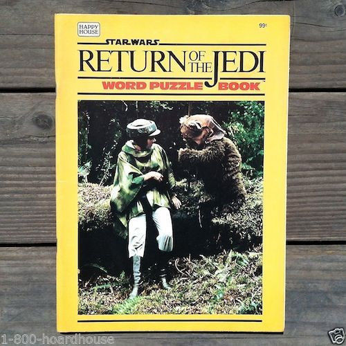 STAR WARS Return of the Jedi Word Puzzle Book 1983