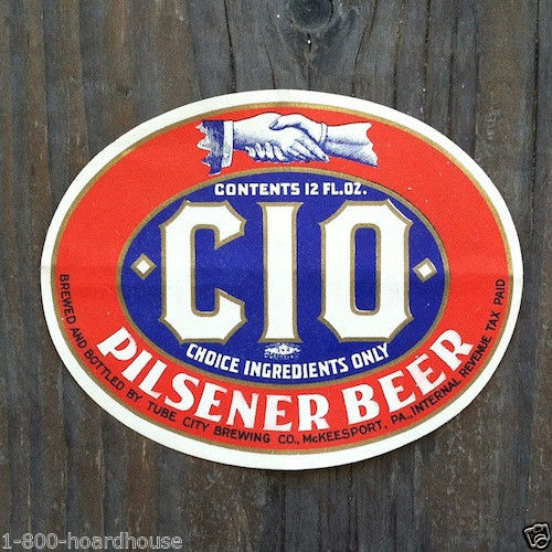 CIO PILSENER BEER Bottle Labels 1930s