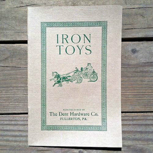 IRON TOYS Dent Hardware CO Toy Catalog Booklet 1900