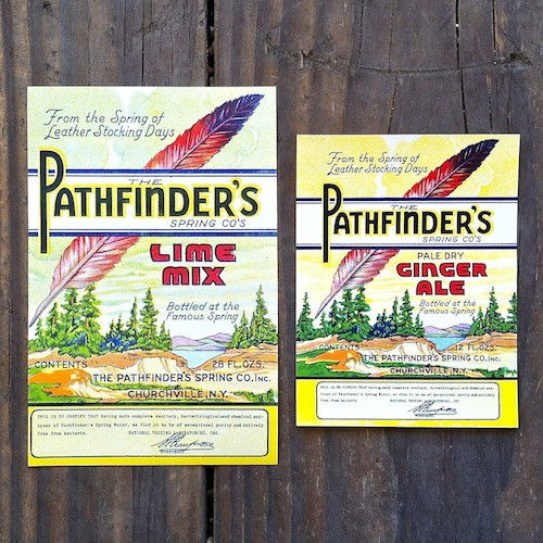PATHFINDER'S Soda Bottle Labels 1930s