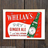 WHELAN'S GINGER ALE Store Window Decal 1940s