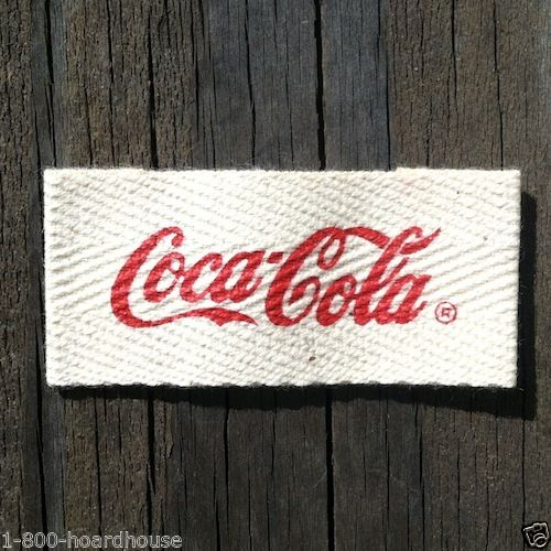 COCA COLA UNIFORM Coke Sleeve Patch 1950s