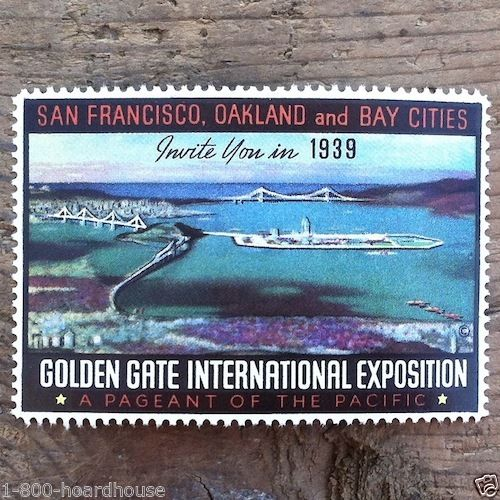 SAN FRANCISCO Golden Gate International Exposition Stamp 1939