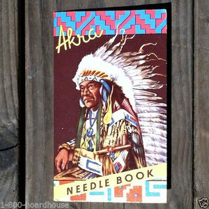 AKRA INDIAN CHIEF Sewing Needles 1940s