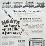MOORE'S ROOM HEATER Advertising Poster 1920s