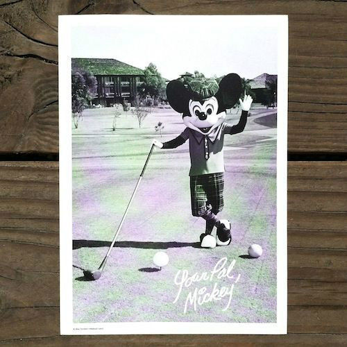 MICKEY MOUSE WELCOME CARD Golf Walt Disney World 1977