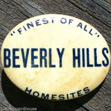 BEVERLY HILLS Homesites Real Estate Pin 1920s